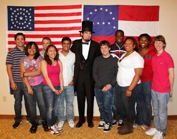 BK_Students with the Lincoln_350