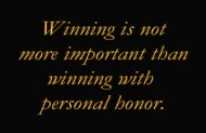 Win with Personal Honor