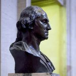 Bust of George Washington in the U.S. Capitol.